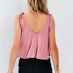 3ede1288f Urban Outfitters Tops - URBAN OUTFITTERS crop tie shoulder pink cami